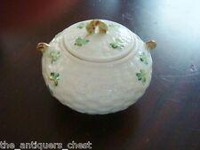 "Belleek Ireland Shamrock sugar bowl,4"" tall, NIB[2]"