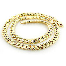 """Solid 14k Yellow Gold 6.5mm Heavy Miami Cuban Link Chain Necklace, 22"""""""