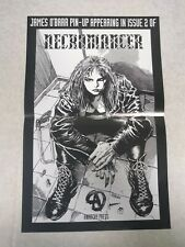 The Necromancer promo poster by James O'Barr (Anarchy Press 1993)