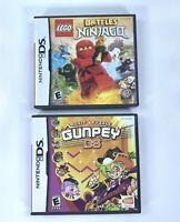 Nintendo DS Lego Battles Ninjago & Gunpey Ds Games Lot Of 2