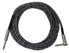 Tetra-Teknica IC-S2R-T20 Straight to Right Angle Braided Instrument Guitar Cable