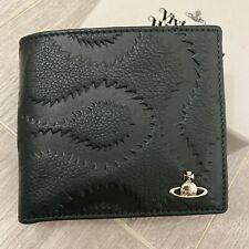 Vivienne Westwood Mens Belfast Leather Bifold Wallet w/ Coins Pocket- Green