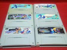 Super Famicom Rockman X X2 X3 7 Forte Soccer Megaman Set Japan SFC SNES