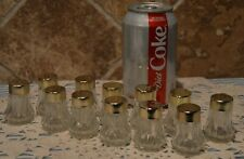 12 MINIATURE SALT AND PEPPER SHAKERS~GREAT FOR PARTIES~WEDDINGS~THANKSGIVING~2""