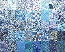 "40 Liberty Tana lawn fabric 2.5"" Patchwork Charm Squares - *BLUES #3*"