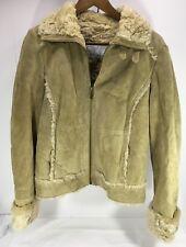 Women's Wilson's Suede leather Brown Coat w/ faux shearling Sz S
