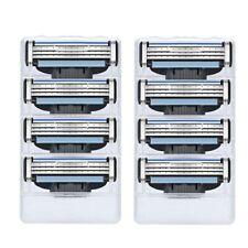 8PCS Mens Gillette Mach 3 Cartridges Razor Blades Fusion Shaver Blades Refills