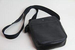 Rare Montblanc Leather Shoulder Bag 002702