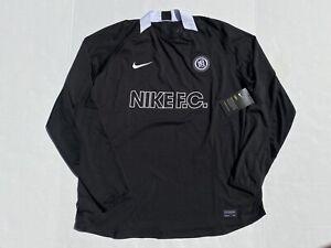 Nike Total F.C. 2020 Black CD1213-010 Womens Dri-Fit Soccer Loose Fit Jersey L