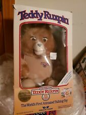 "Vintage 1985 Teddy Ruxpin 19"" Bear in Original Box, Worlds of Wonder, vguc"