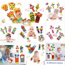 The Season Toys 4pcs Infant Baby Wrist Rattles and Foot Socks Developmental Toys