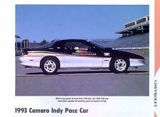 1993 Chevrolet Camaro Z28 350 LT1 Indy 500 Pace Car info/specs/production 11x8