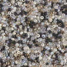 11/0 Granite  Mix by Miyuki Glass Round Seed Beads 10 Grams