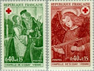 EBS France 1970 - Red Cross: Angel with Whips - Croix Rouge - YT 1661-1662 MNH**