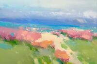 Flowers Valley, Landscape, Original Oil painting, One of a kind