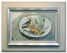 JACQUES ZADIG *1930 / STILL LIFE ON A PLATE - Original Swedish Art Oil Painting