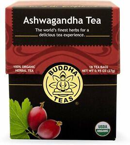 Ashwagandha Tea by Buddha Teas, 18 tea bag 1 pack
