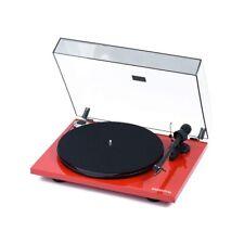Pro-Ject Plattenspieler Essential III Bluetooth Rot + Haube + Ortofon OM10