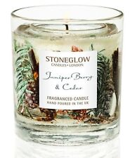 Stoneglow JUNIPER BERRY & CEDAR Botanical Gel Tumbler with scented wax candle