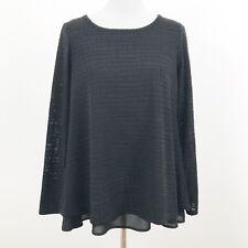NEW The Limited Black Knit Top Blouse Underlay Sz Medium Split Back