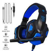 For PS4 Xbox One Nintendo Switch PC 3.5mm Wired Gaming Headset Headphones & Mic