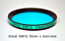 Schott S8612 55mm x 2mm IR Cut Filter, UV + Visual Bandpass, IR Suppression