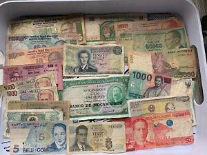 Various Banknotes Bulk Worldwide Currency