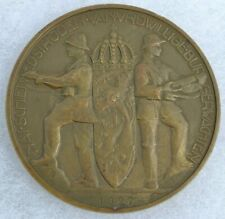 1927 HEAVY MEDALLION DUTCH MEDAL SOLDIER WITH HELMET HOLLAND NETHERLANDS BADGE