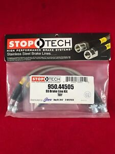 STOPTECH STAINLESS STEEL REAR BRAKE LINE 04-11 MAZDA RX8 RX-8 SE3P  950.45502