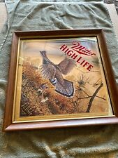 Miller High Life Beer First Flush Pheasant Hunting Framed Mirror Bar Sign