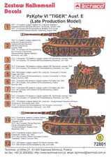 Techmod Decals 1/72 PzKpfw VI TIGER E LATE PRODUCTION