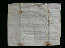 Howlong New South Wales 1857 Land Purchase Document Signed Sir William Denison