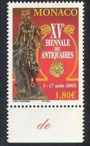 Monaco 2003 Antiques/Bronze Statue/Art/Craft/Carving/Sculpture 1v (n39267)