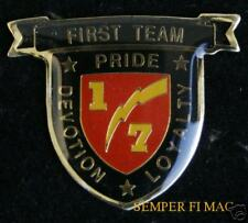 1/7 1ST BATTALION 7TH US MARINES HAT PIN MCAGC 29 PALMS 1ST MAR DIV MCB GIFT WOW