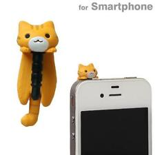 Niconico Nekomura Cat Earphone Jack Dust Plug Accessory (Tiger Tea / Hanging)