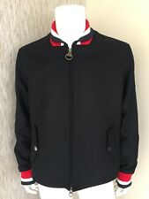 Barbour X Steve McQueen Navy Blue Wool Jacket Size Large