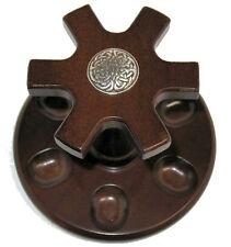 Celtic Irish Scottish Knots #1 Logo Round Real Walnut 6 Tobacco Pipe Rack Stand