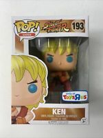 Funko Pop! Street Fighter Ken #193 Toys R Us Exclusive Vinyl Figure Pop Games