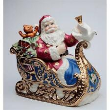 Appletree Christmas Fantasia Santa in Sleigh Cookie Jar Maureen Drdak 10673 New
