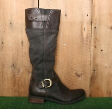 """TIMBERLAND 'Bethel' Brown Leather 16"""" Tall Knee High Riding Boots Sz. 8"""