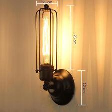 DE Antik Stil Wandleuchte Vintage Industrie Käfig Wandlampe Flurlampe Retro Café