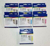 Printec Imaging Ink x 7 Cartridges B-LC57-M B-LC37-BK B-LC57-C  B-LC37-Y