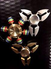 Fidget COMBO Modular Fidget Spinner (Wheel) + TWO 3D Hand Spinners SILVER + GOLD