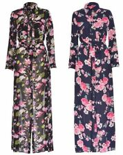 Polyester Collared Floral Maxi Dresses for Women