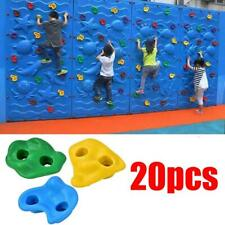 20Pcs Textured Climbing Holds Rock Wall for Kid Multi Color Assorted W/40*Screws