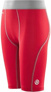 SKINS Carbonyte Junior Baselayer Shorts Red Sports Training Short Tights S - XL