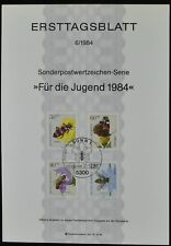 West Germany 6/1984, Youth Welfare Pollinating Insects Ersttagsblatt