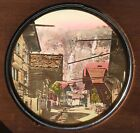 Antique Old Western USA Gold Mining Town Hand Colored Magic Lantern Glass Slide