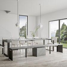 Panca allungabile Walk bianca o cemento modulare comoda leggera per interni