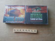 CHRIS RYAN'S THE INCREMENT & LAND OF FIRE - 2 AUDI BOOKS ON 6 CDS NEW AND SEALED